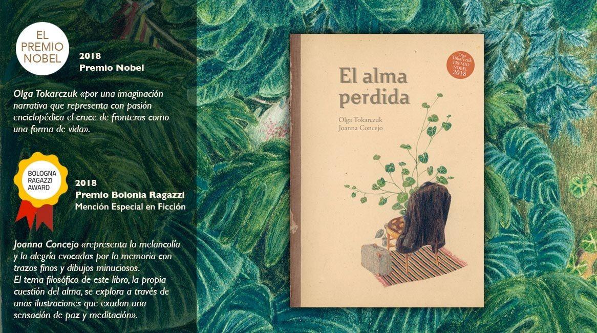 Portada del libro ilustrado El Alma Perdida de Olga Tokarczuk y Joanna Concejo. Premios Nobel y Bolonia Ragazzi