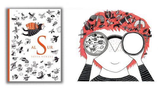 Al sur, portada e ilustración. Libro de Sofía Venzel