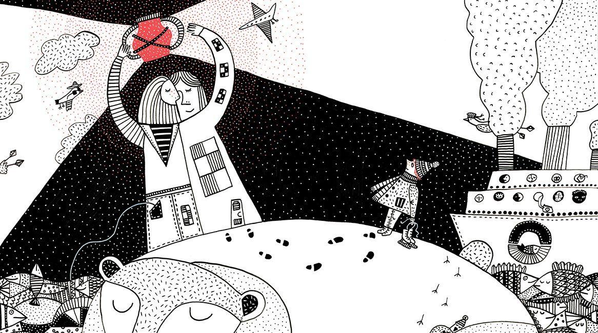 Ilustración del libro de Sofía Venzel, Al sur