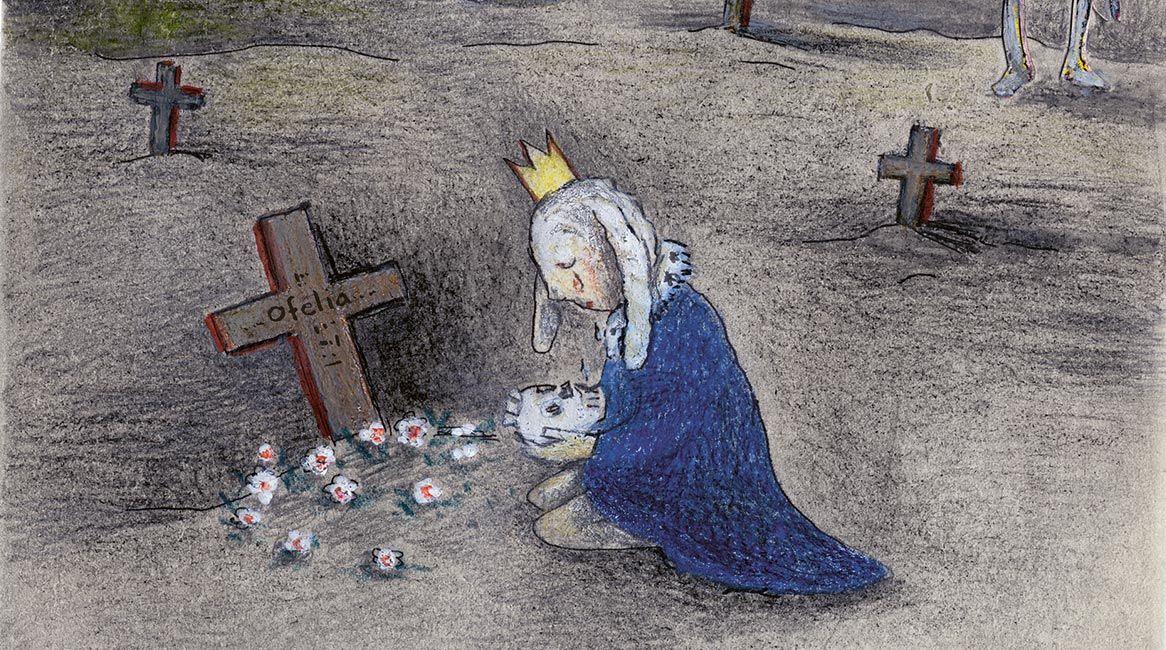 Ilustración interior del cuento Mira Hamlet