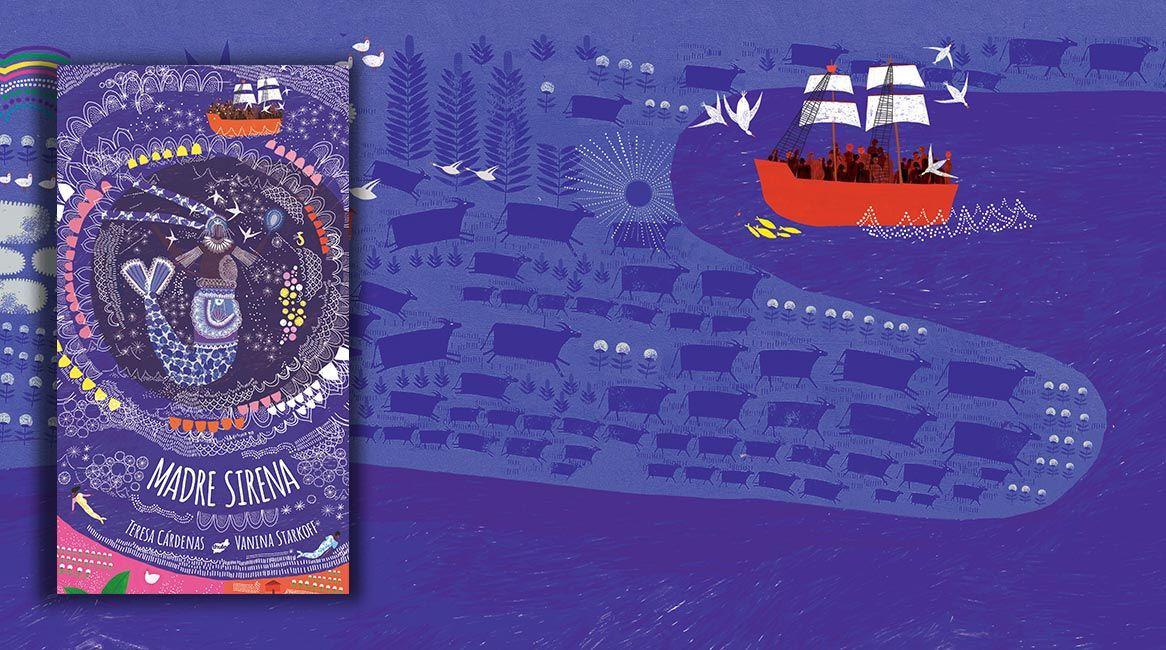 Portada del libro ilustrado Madre Sirena de Teresa Cárdenas Angulo y Vanina Starkoff