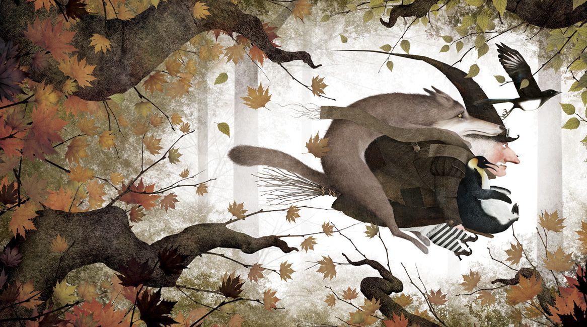 Ilustración de la novela Brujarella de Iban Barrenetxea