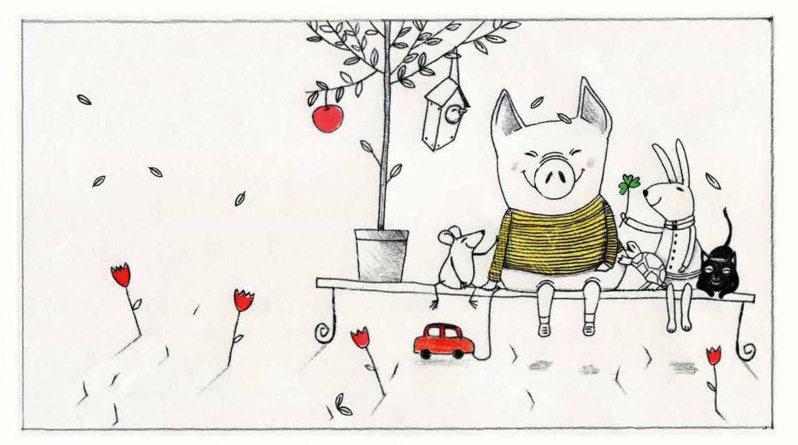 Ilustración interior del libro Pequeño manual de la amabilidad.