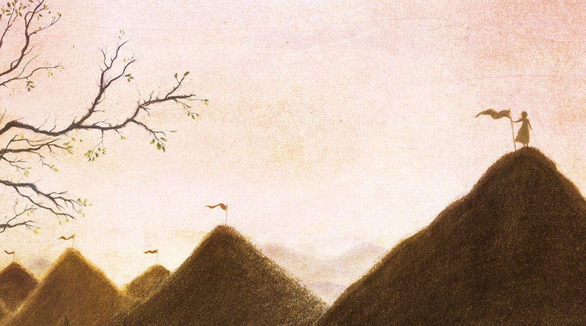 Interior del libro ilustrado Viaje a la alegría.