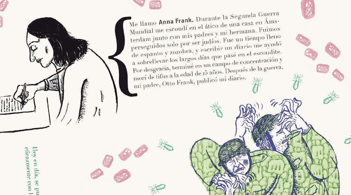 Ilustraciones y texto interior del libro Pandemias