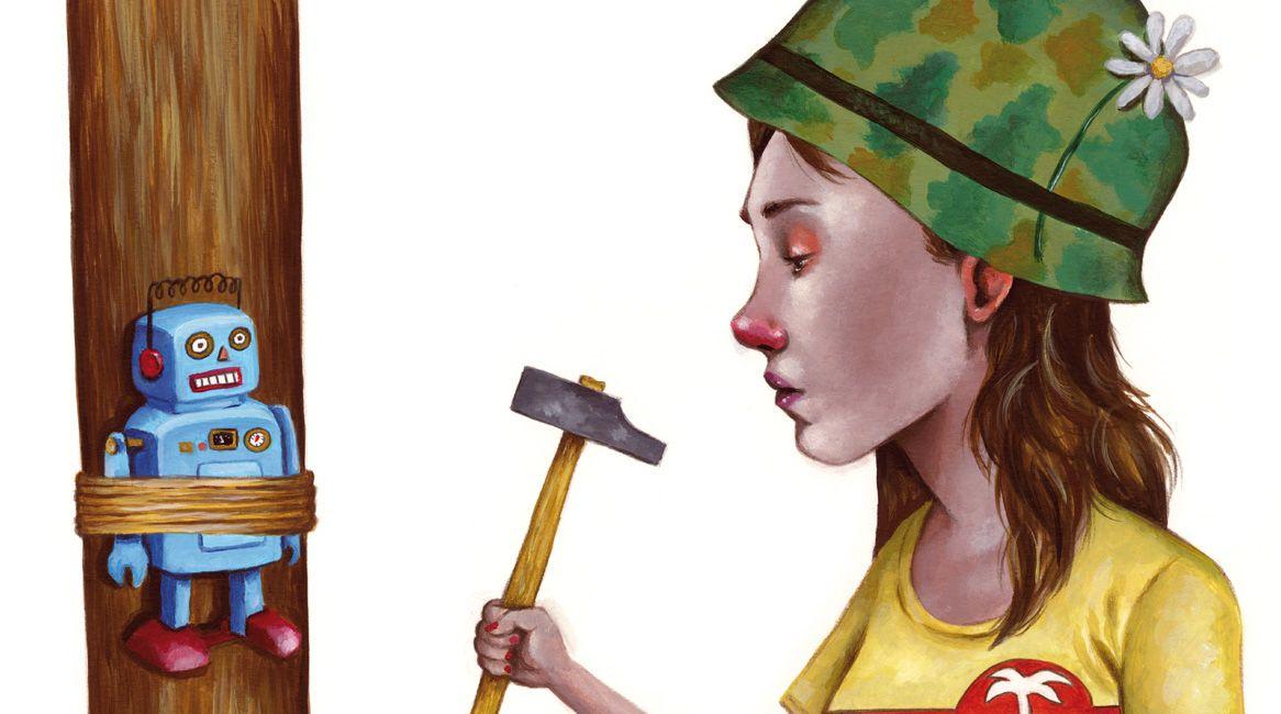 Ilustración de Daniel Páez Fernández para el libro Adolescente