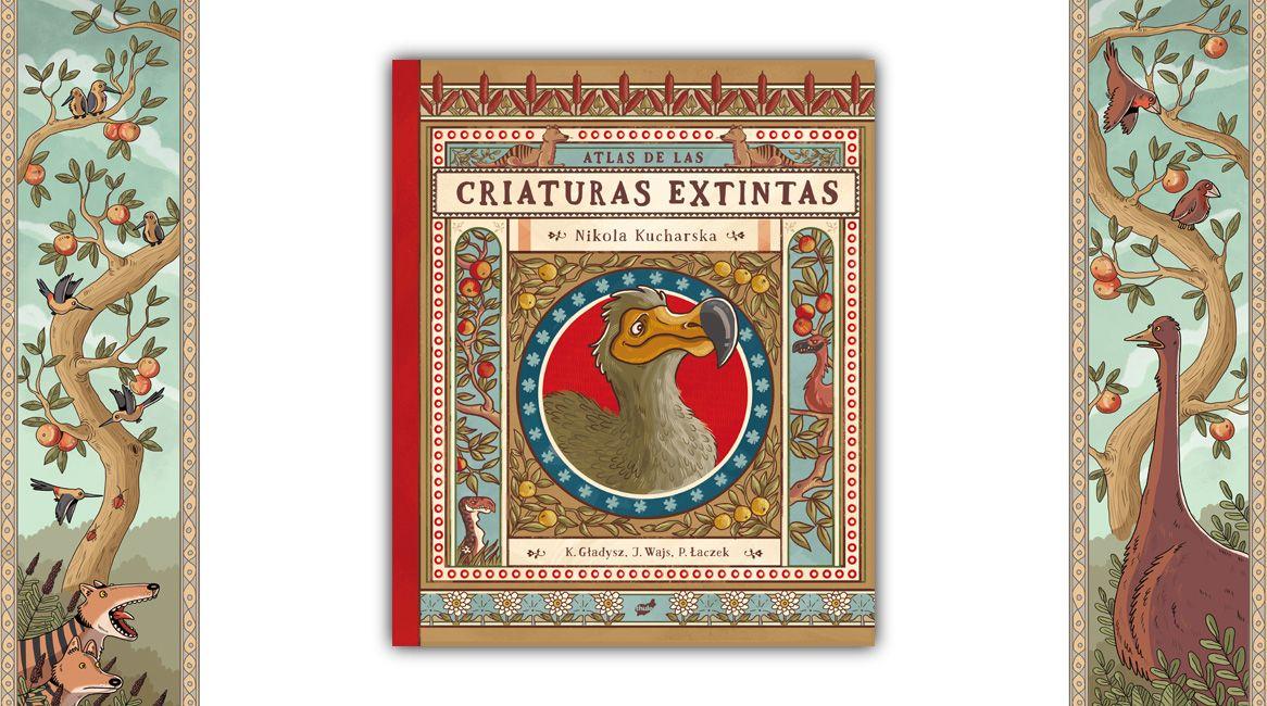 Atlas de las criaturas extintas, libro ilustrado de Nikola Kucharska