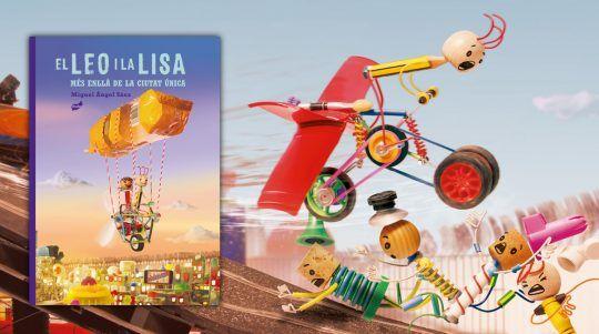 El Leo I la Lisa. Més enllà de la ciutat Única llibre il·lustrat d´Miguel Ángel Sáez